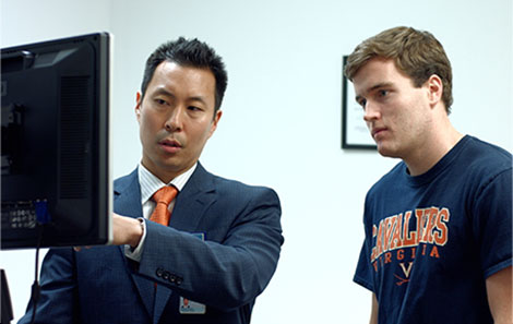 doctor with uva athlete