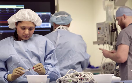 UVA Cardiovascular Team prepping for surgery