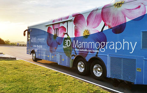mammogram on a van