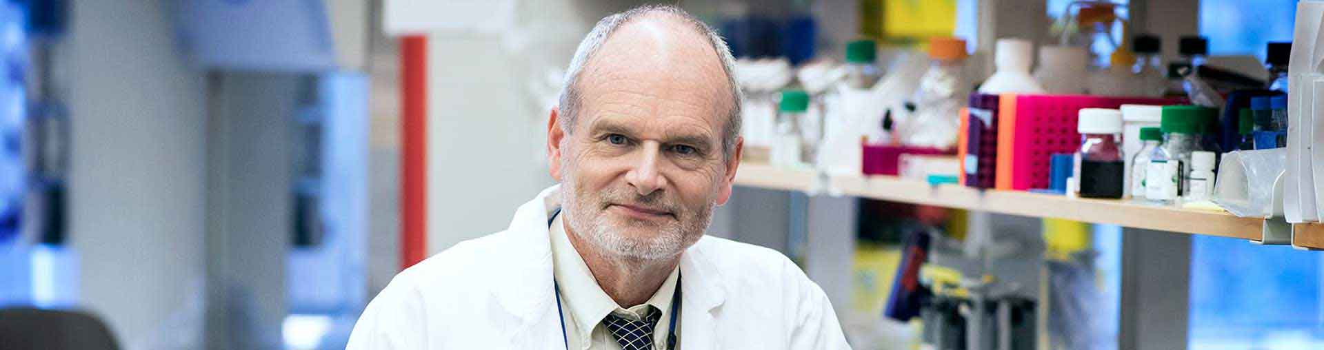 William Petri, MD, working on COVID-19 testing and vaccines in his lab